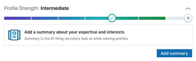 LinkedIn Profile - Intermediate Status